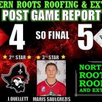 Nov 2nd Knights vs Pirates: Knights fall 5-4 in heart breaking shootout.